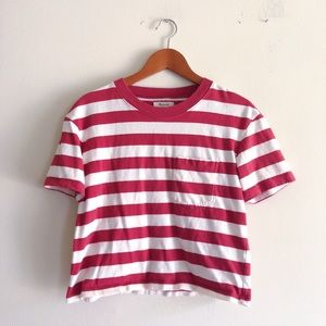 Madewell Easy Crop Tee in Murph Stripe